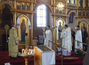 Ukrainian Easter service at St. Mary's the Protectress, Winnipeg, Manitoba