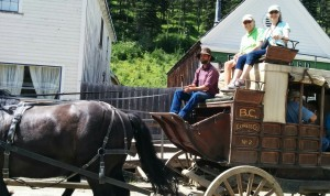 Rob and I about to take a ride around Barkerville